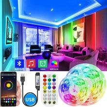 Bluetooth USB LED Strip Light 5050 SMD DC 5V USB RGB Lights Waterproof LED Lamp Tape Ribbon For Decoration Bedroom TV BackLight