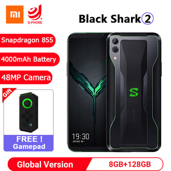 "Global Version Xiaomi Black Shark 2 8GB 128GB Gaming Smartphone Snapdragon 855 6.39"" AMOLED Screen Mobile Phone 48MP Camera"