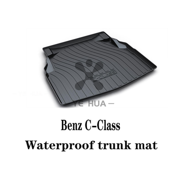 цена на Black Heavy Duty Cargo Floor Mat-All Weather Trunk pad Protection, Trunk mat Durable HD TPO Fit For Mercedes-Benz C-Class 09-19