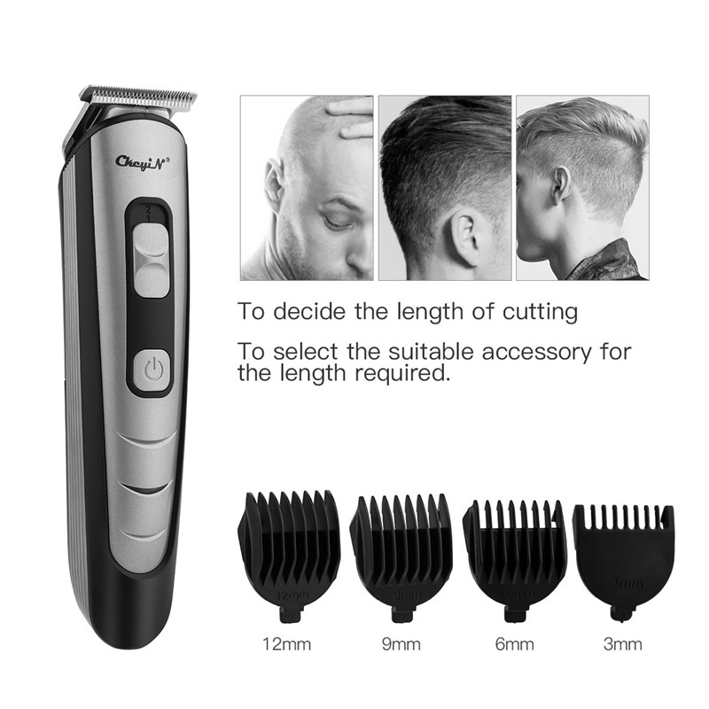 Professional Rechargeable Hair Clipper With 4 Heads Hair Trimmer Men Barber Hair Cutting Machine Hair Shaver Tool Hair Trimmer 5
