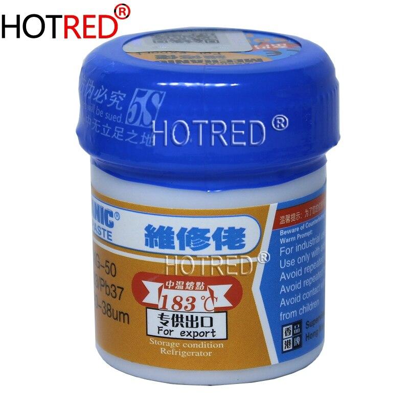 2PCS/Lot Bga MECHANIC Solder Flux Paste Soldering Tin Cream Sn63/Pb37 XG-50, New Packing From MECHANIC