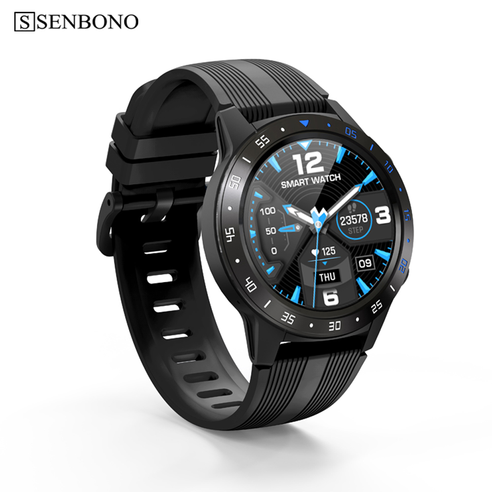 SENBONO GPS Smart Watch Support  Bluetooth call Men Women Clock Fitness tracker Heart rate monitor sport Smartwatch