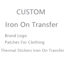 Fer à repasser personnalisé sur les transferts pour le logo de la marque de vêtements