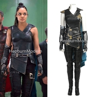 High quality Thor Ragnarok Valkyrie Cosplay Costume Thor 3 Outfit Movie Superhero Battle Suit Fancy Clothes Women Costumes