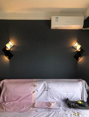 H1d9f94f9118a4dca9f5ad3b892d20f7dQ - LED Modern Geometric Iron Acryl Black White DIY Magic Box LED Lamp LED Light Wall lamp Wall Light Wall Sconce For Store Bedroom