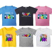 Summer Kids Game Among Us Printed T-shirt Children Cartoon Anime T Shirt Toddler Boys Girls Short Sleeves Tshirt O-neck Tee Tops