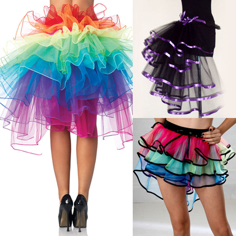 Fancy Unicorn Skirt Rainbow Tail Costume Women Lady Tutu Adult Petticoat Tulle Ballet Ribbon Party Pettiskirt Custom 8 Layer