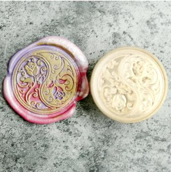 Stamp head of Double rose flower Retro Wood Stamp Sealing Wax Seal Stamp Wedding Decorative sealing Stamp wax seals фото