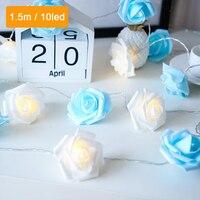 Guirnalda de flores LED SXZM, guirnalda de luces con USB, decoración artística de hadas para el hogar, dormitorio, habitación, navidad