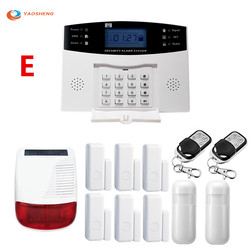 YAOSHENG PG505 Wired Wireless Home Security Alarm System Kit mit Wireless licht Flash Strobe Outdoor Wasserdicht Sirene GSM Alarm