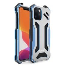 Capa armadura luxuosa de metal, para iphone 11 pro xs max xr x 7 8 plus se 2, capa protetora iphone x xr xs max coque à prova de choque