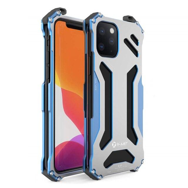 יוקרה מתכת שריון מקרה עבור iPhone 11 פרו XS Max XR X 7 8 בתוספת SE 2 להגן על כיסוי עבור iPhone X XR XS מקס קשה עמיד הלם Coque