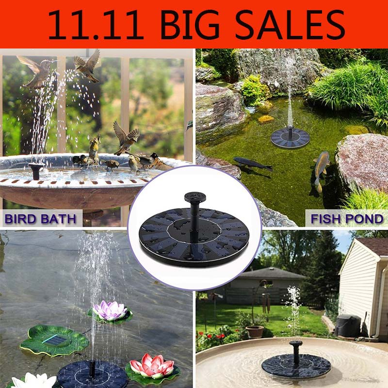 Solar Fountain Floating Power Solar Pump Pool Pond Submersible Waterfall Floating Solar Panel Water Fountain For Garden Decor