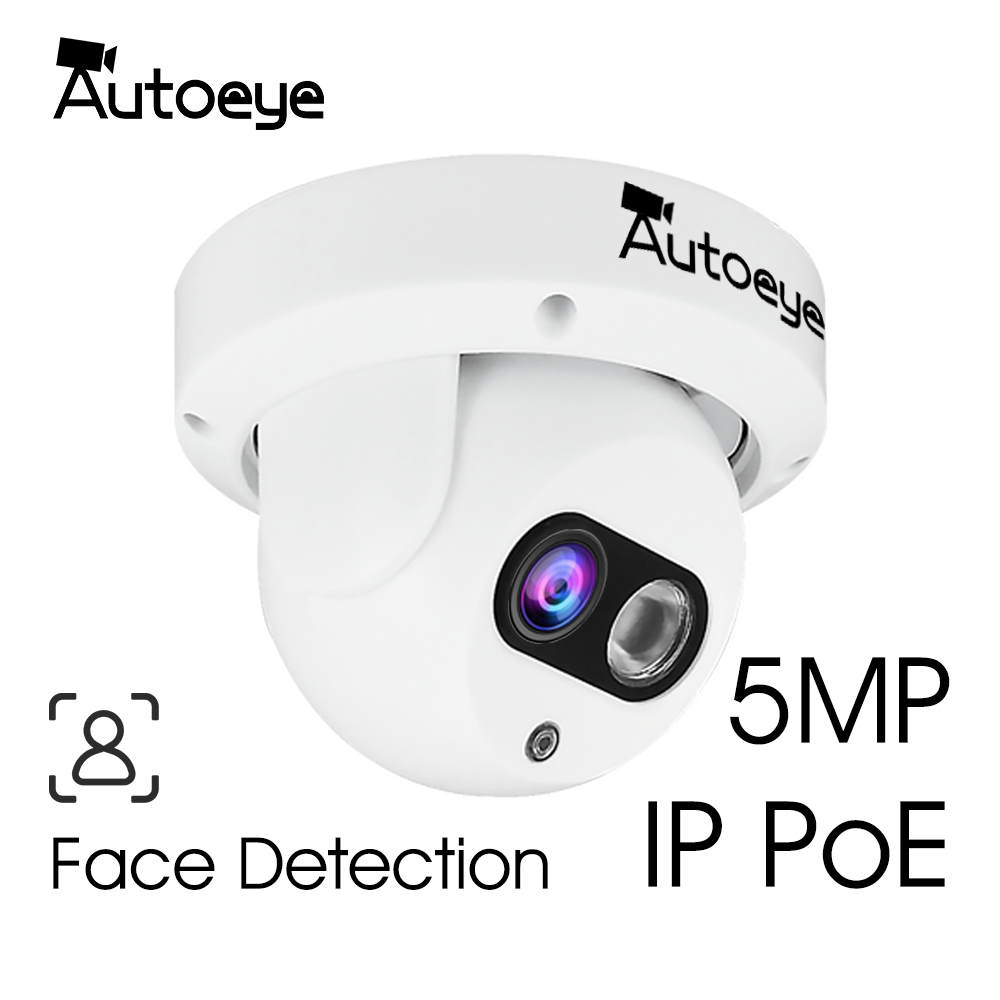 Autoeye 5.0MP Sony IMX335  2MP 1080P SONY IMX307 IP Poe Face Detection Network Camera H.265X Indoor Dome Camera 1Pcs Array Led