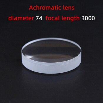 Średnica74 ogniskowa długość3000 achromatyczny obiektyw na zamówienie z fabryki soczewki teleskopu lupa różne rozmiary