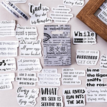Kawaii Stationery Posted It-Journal-Planner Stickers Cute Newspaper-Pattern 46pcs/Pack
