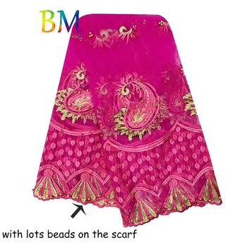 High Quality Scarf for Women Net Embroidery Big Tulle Shawls BX10 - sale item Muslim Fashion