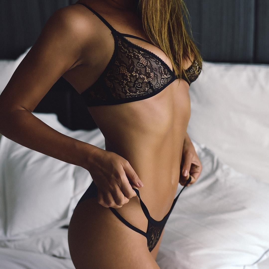 Sexy 2pcs Women Push Up Top Bra Erotic Sexy Set Bandage Underwear Porn Lace American Clothing Babydoll Lingerie Set Sleepwear