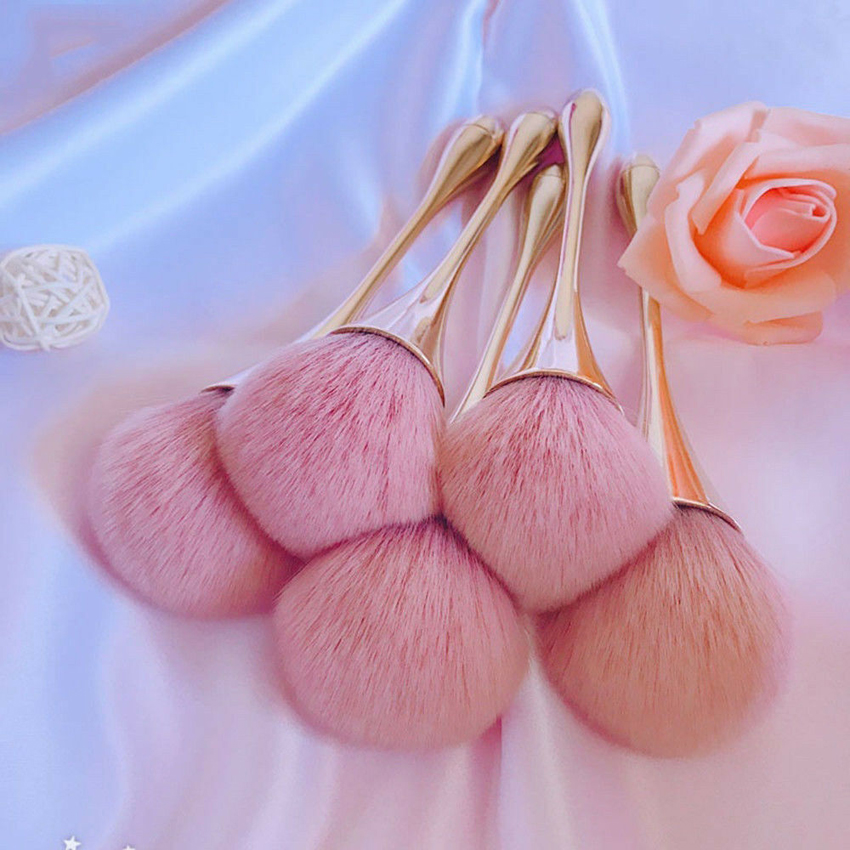 Rose Gold Powder Blush Brush Professional Make Up Brush Large Cosmetic Face Cont Cosmetic Face Cont brocha colorete Make Up Tool
