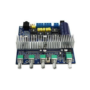 Image 2 - TPA3116D2 Bluetooth 4.2 Subwoofer Audio Amplifier Board 2.1 Channel High Power 2*50W+100W TPA3116 amplificador DC12V 24V D3 001