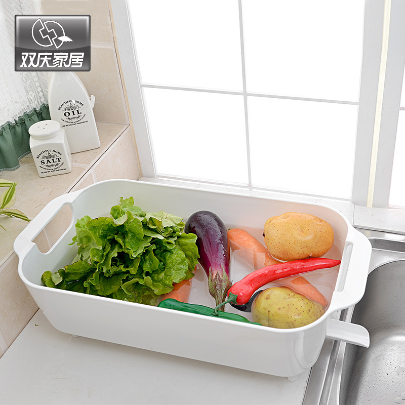 Shuang Qing Home Reside Multi-functional Water Draining Storage Shelf Kitchen Water Draining Storage Shelf 1081