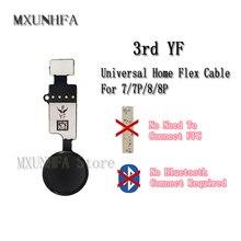10ピース/ロット3rd 6th yf jcユニバーサルホームボタンフレックスケーブルiphone 7 8プラスメニューキーパッドリターン機能ソリューション交換