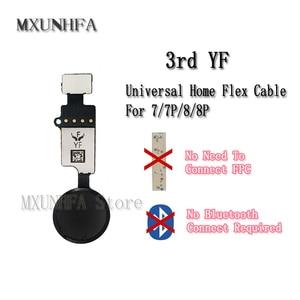 Image 1 - 10pcs/lot 3rd 6th YF JC Universal Home Button Flex Cable for iPhone 7 8 Plus Menu Keypad Return Function Solution Replacement