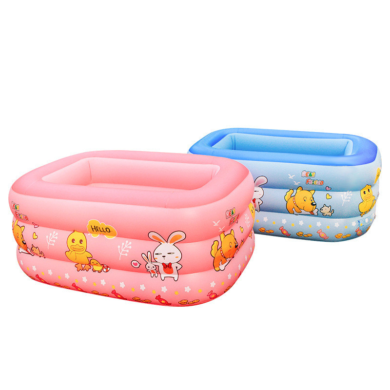 Children's Cartoon Pool Home Inflatable Infant Swimming Pool Thickened Water Amusement  Portable Baby Tub Pool Toddler Games
