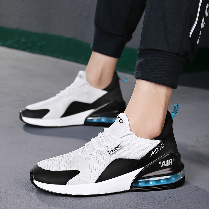 Fall And Winter Men's Breathable Sneakers Men's Comfortable Lightweight Cushion Cushioning Training Running Shoes Coulpe Shoes