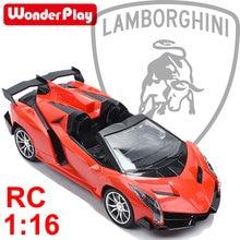 Wonderplay 1/16 Official Licensed RC Car For Lamborghini Veneno Sport Racing Remote Control car toys aluminum alloy for Kid