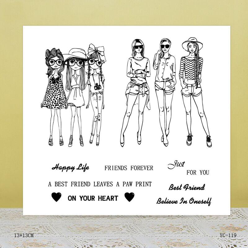 ZhuoAng best friend Transparent seal / sealed DIY scrapbook / album decoration card / seamless seal