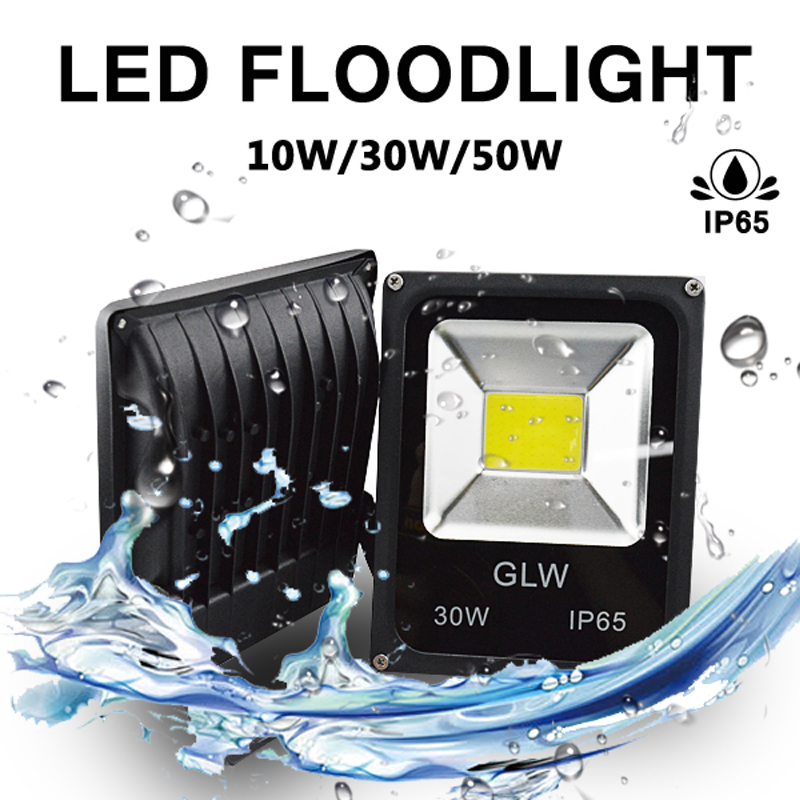 LED Flood Light COB Integrated AC/DC 12V 10W30W50W Landscape Waterproof IP65 Outdoor Garden for Building Spotlight|  - title=