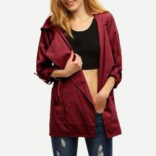 2019 Autumn New Women's Casual trench coat oversize Slim Fit Belt trenc