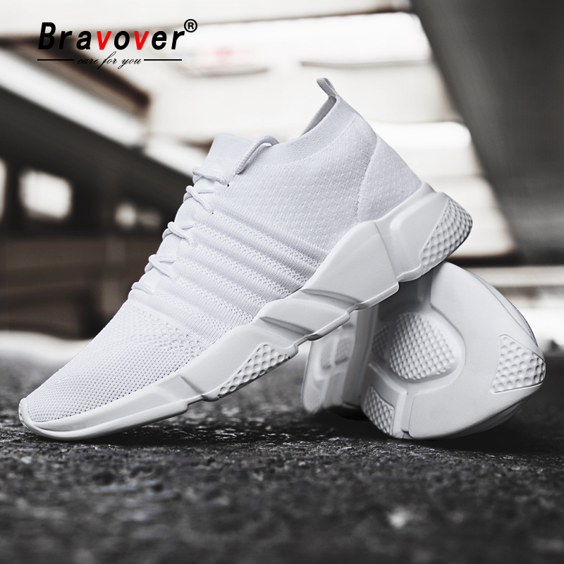 New Flying Weave Super Light Men's Running Shoe Outdoor Sport Shoes Mens Cushioning Non-slip Mesh Walking Shoes Men Sneaker
