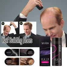25g sevich Hair Building Fibers Refill Human Wig Extensions Natural Hair Keratin Fibers Treatment Thin Powder Regrowth