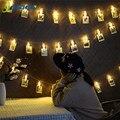 2 м 5 м 10 м светодиодный светильник строка открытый гирлянда фото клип украшения Фея светильник гирлянды на свадьбу Одежда для свадьбы, дня р...