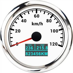 "Image 2 - מד מהירות GPS 3 ב 1 עם בורג טיול סה""כ קילומטראז 85MM LCD תצוגת מהירות מד מרחק Fit עבור רכב סירה ימי אופנוע 12V 24V"