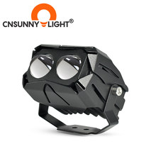 CNSUNNYLIGHT Super lente doble Bi Color LED proyector Moto faro reflector 12000Lm Hola/Lo blanco amarillo conducción Hawkeye Luz(China)