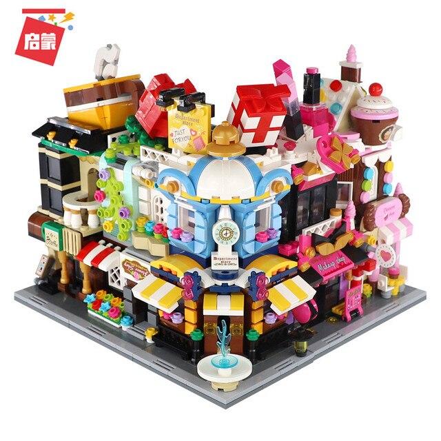City Friends Stores Blocks Toys Street Shops Locking Building Bricks 3