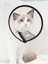Dog Collar Cat Head Anti-licking Anti-biting Pet Supplies Seat Belt Schnauzer Solid  Recovery Sleeve Breakaway