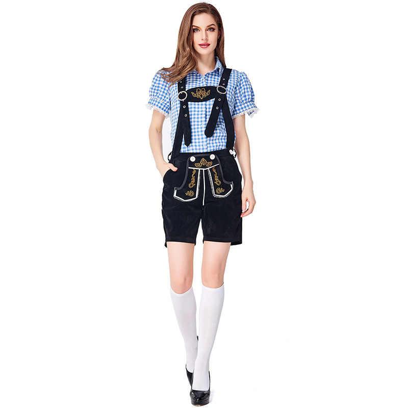 Festival Oktoberfest Meisje Bar Uniformen Lederhosen Beierse Duitse Wench Kostuums Bier Maid Cosplay Outfit Boer Game Kostuums