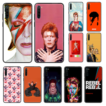 Rock David Bowie Phone case For Xiaomi Redmi Note S2 4 5 6 7 8 A S X Plus Pro black soft cover trend shell tpu bumper silicone image