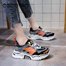 Super Fire Torre Shoe Female Ins Tide 2019 Autumn Street Color Matching Sports Running Thick Bottom Net Red Casual Shoe36