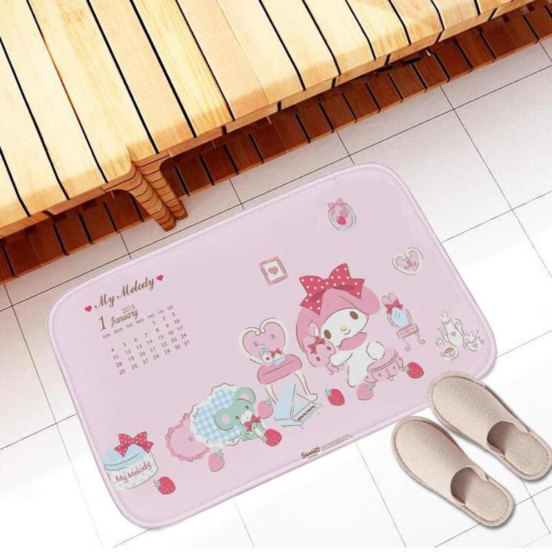 Neue 40x60cm Cartoon My Melody Kinder Weichen Teppich Anime Nette Teppiche Küche Bad Anti-slip Boden mat Fuß Pad Hause Dekoration