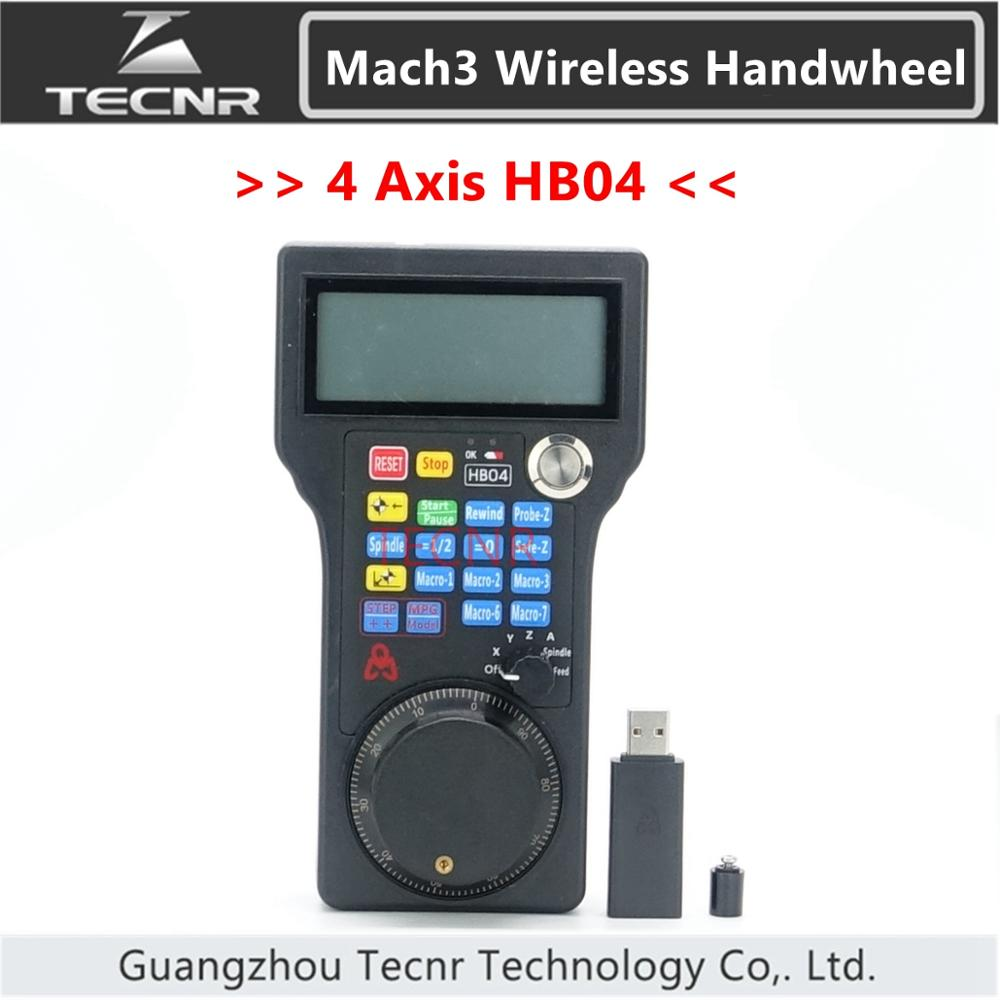 CNC Mach3 MPG pendant wireless handwheel 4 axis pulse 50PPR optical encoder generator HB04 WHB04 for