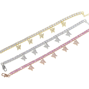 New cz Tennis Butterfly Anklet