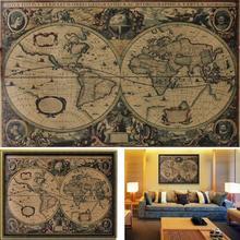 Бежевый Рисунок карты прямоугольная крафт-бумага картина карта мира плавания плакат Настенная Наклейка Гостиная Бар Кафе декоративная