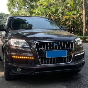 Image 4 - Car Flashing 1 Pair LED DRL Dynamic Yellow Turn Signal Daytime Running Light Fog Lamp For Audi Q7 2010 2011 2012 2013 2014 2015