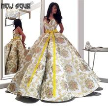 Newest Design Ball Gown Evening Dress For Saudi Arabia 2020 Custom Made Girls Party Gown Robe De Soiree Dubai Islamic Prom Dress