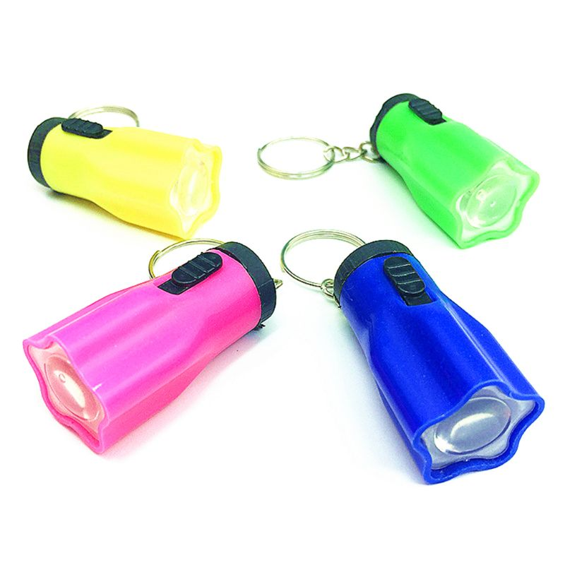 Lot Durable Glow Mini Flashlight LED Light-Up Toys Keychain Party Favors Kids Toy Gift Gadgets Bag Pendant